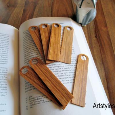 Marques pages, signet en bois d'olivier