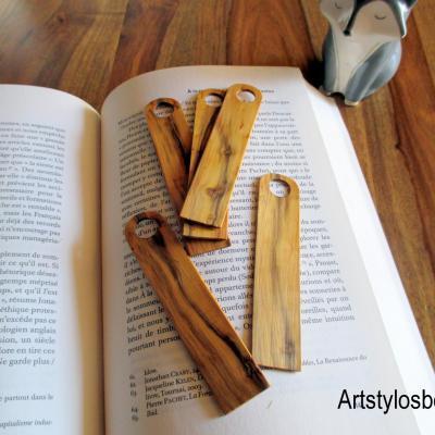 Marques pages, signet en bois de buis