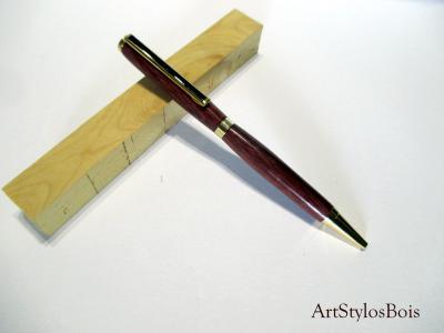 Stylo bille en bois d'Amaranthe