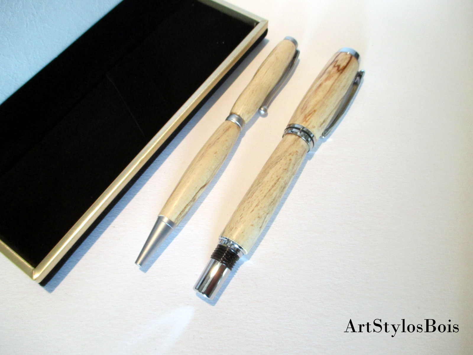 Achat Stylos et objets en bois fabrication artisanale cadeau 87b92069f3f