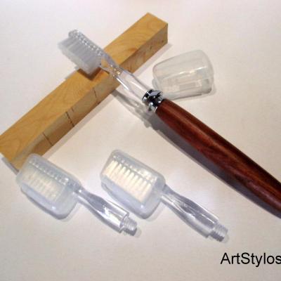 Brosse a dent en bois de Prunier