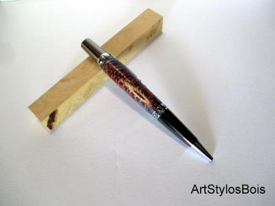 Stylo bille en bois de chardons et résines