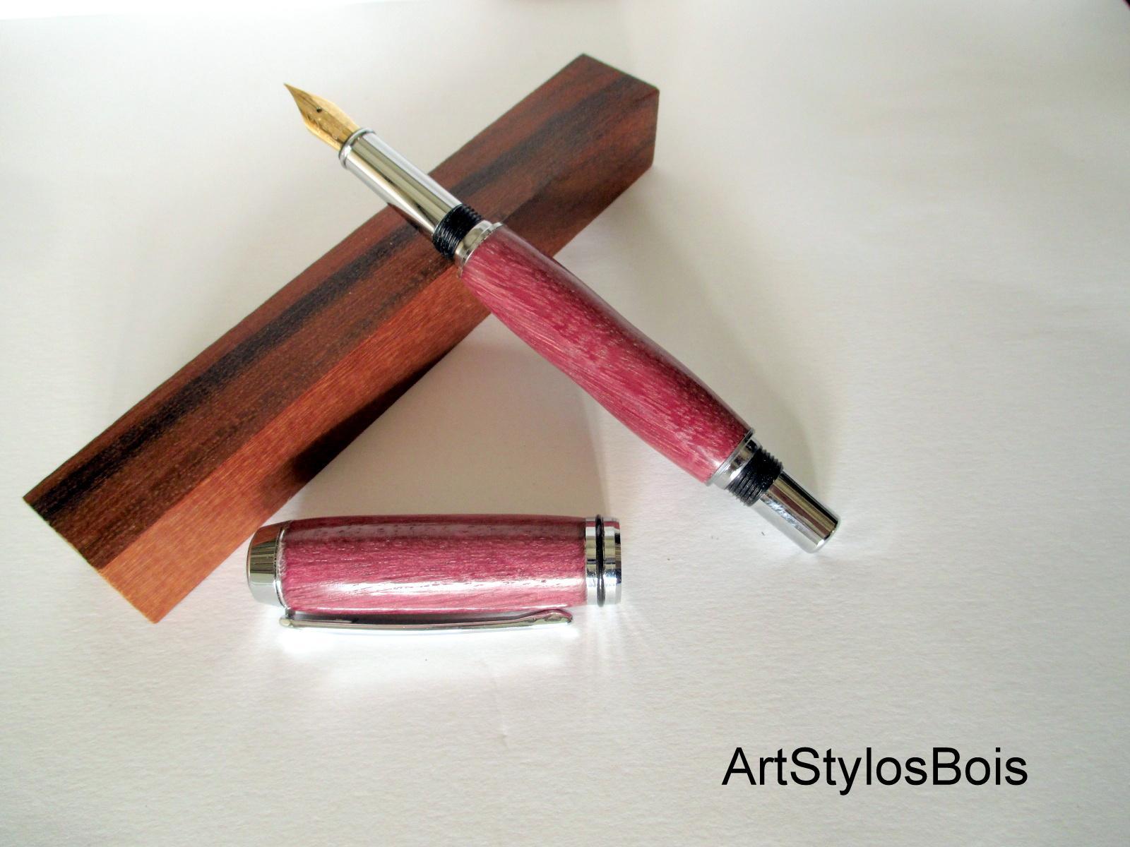 Stylo plume en bois d'Amaranthe