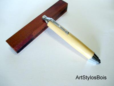 Crayon à dessin, Porte Mine en bois de Buis