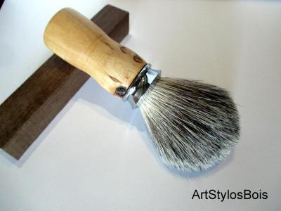 Véritable blaireau en bois de Bouleau Madré