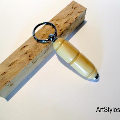 Porte clés en bois de Buis
