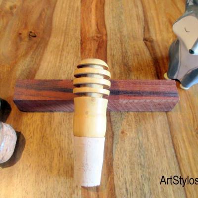 Bouchon de bouteille en bois de buis