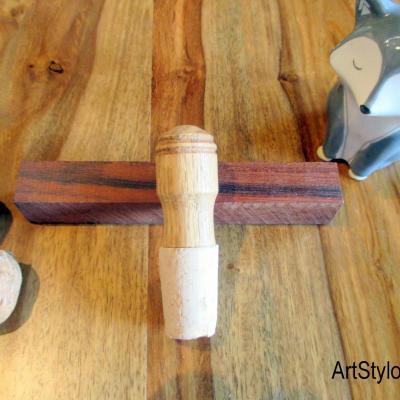 Bouchon de bouteille en bois de chêne